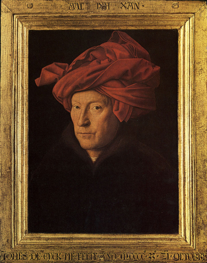 Red Turban Painting